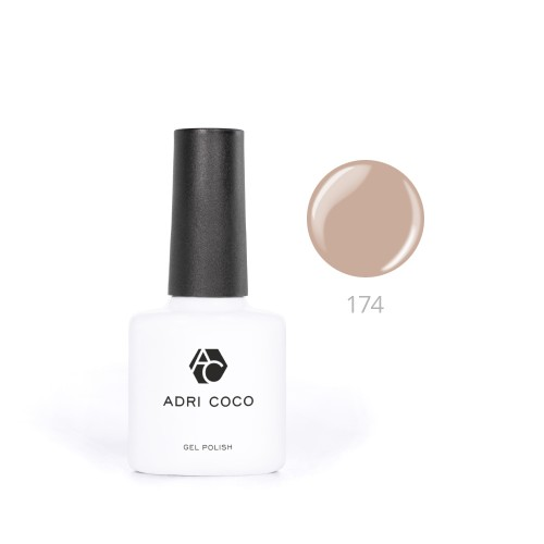 Гель-лак ADRICOCO №174 темно-кремовый (8 мл.)