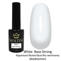 Камуфлирующая каучуковая база Moltini White Base Strong, 12 ml