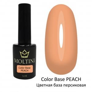 Цветная база Color Base PEACH (персиковая) 12 мл.  Moltini