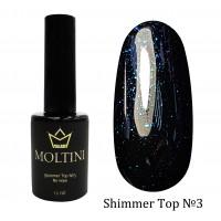 Топ с шиммером без липкого слоя Moltini Shimmer Top №3, 12 ml