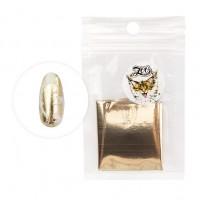Фольга переводная 4*50 см 1415 глянцевая белое золото