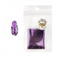 Фольга переводная 4*50 см 1425 глянцевая фиолетовая