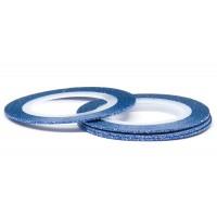 Лента (скотч) для дизайна ногтей №170 с блестками синяя, 1 мм EL Corazon