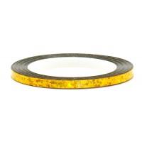 Лента (скотч) для дизайна ногтей №231 голография золотая, 2 мм EL Corazon