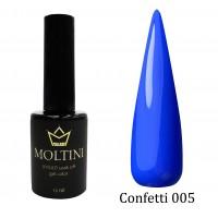 Гель-лак Moltini Confetti 005, 12 ml