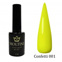 Гель-лак Moltini Confetti 001, 12 ml