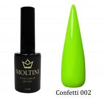 Гель-лак Moltini Confetti 002, 12 ml