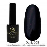 Гель-лак Moltini Dark 008, 12 ml