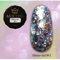 Глиттер-гель Moltini G02, 6 г