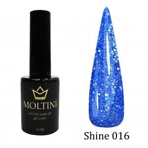 Гель-лак Moltini Shine 016, 12 ml