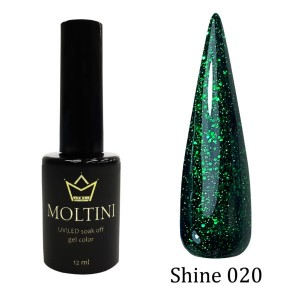 Гель-лак Moltini Shine 020, 12 ml