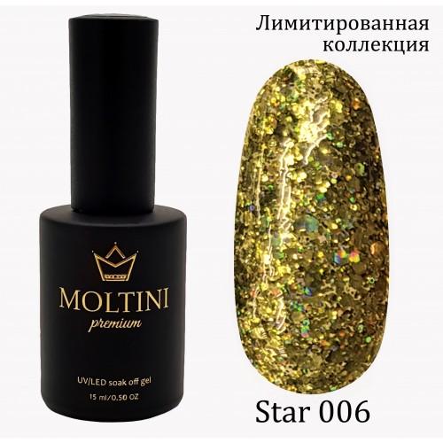 Гель-лак Moltini Premium STAR 006, 15 ml