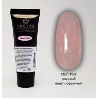 Полигель Moltini Clear-Pink, 18 гр