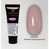 Полигель Moltini Clear-Pink, 30 гр