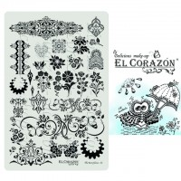 Пластины для стемпинга The Best Plates 22  El Corazon®