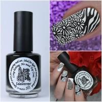 Лак для стемпинга №st-101 матовая black (черный) Kaleidoscope 15 мл