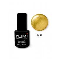 База для Crack Gel, 4 мл (№01 Золото)  YUMI Professional